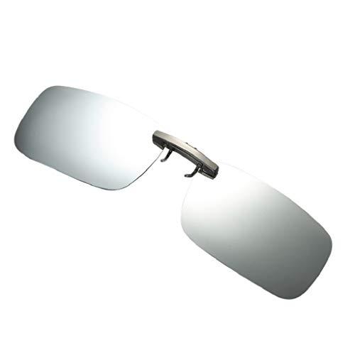 LUCKYCAT polarisierte Sonnenbrille für Brillenträger Überzieh-Sonnenbrille mit Brillen-Etui für Herren und Damen Sonnenbrillen-Clip