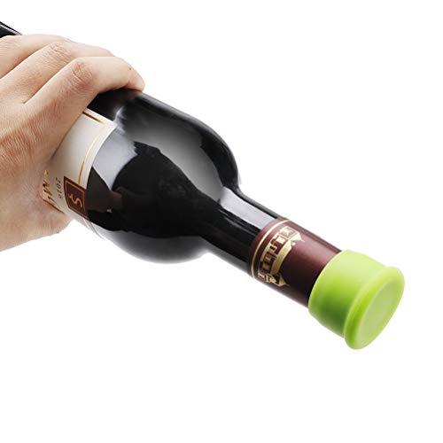 Vicloon Set de 6 Tapones para Botellas, Tapones de Vino Silicona, Tapa de Botella de Vino