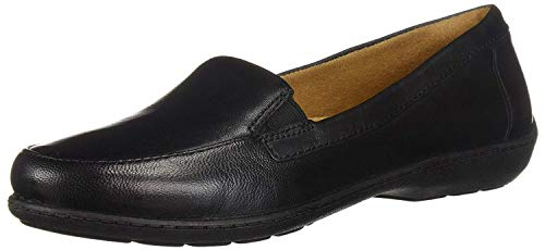 SOUL Naturalizer Women's Kacy Loafer Flat, BLACK LEATHER, 9