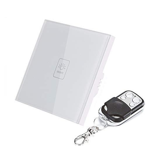 BHLL Touch Lichtschakelaar, dimmer, home control, touch-schakelaar, wifi, compatibel met app, afstandsbediening, bedien je apparaten overal (1-weg)