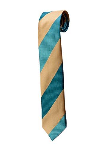 Cravate à rayures texturées beiges et bleues DESIGN costume homme mariage