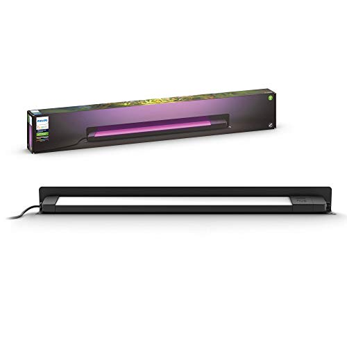 Philips Hue Amarant - Lámpara exterior lineal inteligente 15 W, bajo voltaje, 1400 lúmenes, luz blanca y color 2200 - 6500k, IP65, metal