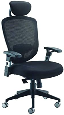 Office Hippo Office Chair Adjustable Arms, Home Office Chair, Computer Chair for Home, Black, Mesh