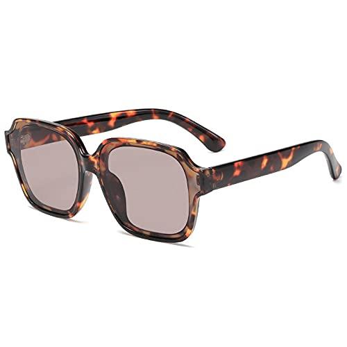 XDOUBAO Gafas de sol Moda Gafas de sol Tendencia Hombres Y Mujeres Tinta Gafas-Capucha de flores de frijol C3 plup