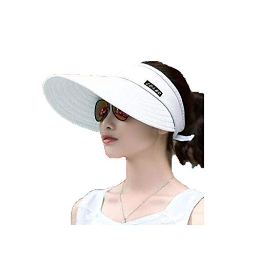 QJXSAN Sun hat Men and Women Summer Sunscreen face Anti-Purple line Travel Cycling Wild Big air-top Windproof Rope Outdoor Play Sports
