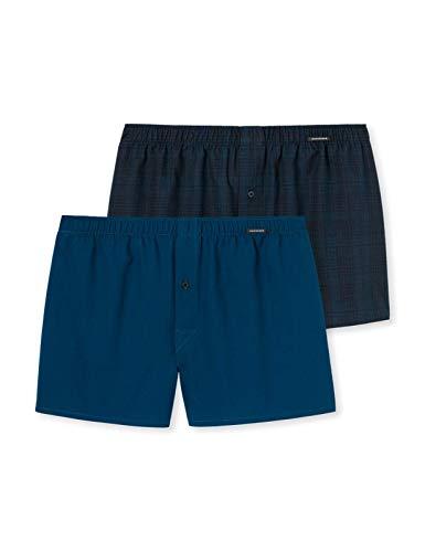 Schiesser Herren Boxershorts, Blau (Petrol 811), XL (2er Pack)