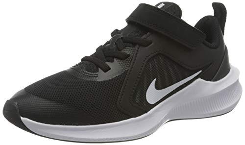 Nike Unisex Kinder Downshifter 10 (Psv) Running Shoe, Black White Anthracite, 34 EU