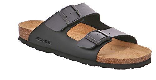 Rohde Grado Herren Pantoletten Sandalen, Größe:EUR 48, Farbe:Schwarztöne