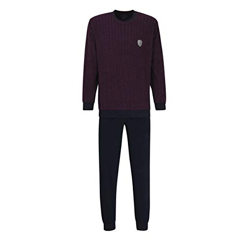Götzburg Herren Pyjama rot Nadelstreifen 1er Pack 56