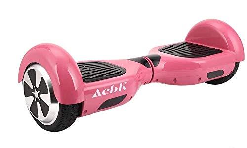 ACBK - Patinete Eléctrico Hover Autoequilibrio con Ruedas de 6.5' (Luces Led integradas) Velocidad máxima: 10-12 km/h - Autonomía 10-20 km (Rosa)