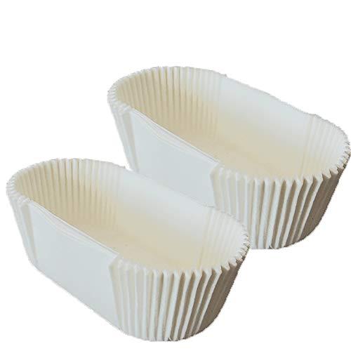Hieefi 40PCS Rectangular Tazas de La Torta desechables Papel Antiadherente Pan de Copas El Papel de Pergamino Trazadores de LíNeas Con El Borde Recto