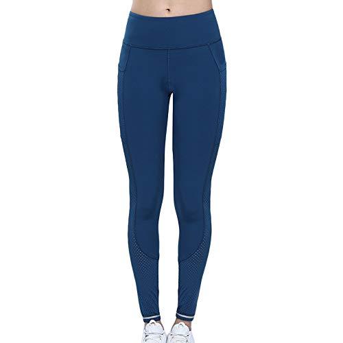 QINJLI yogabroek vrouwelijke fitness hoge snelheid elastisch droog hoge taille lift pobacke panty oefenbroek kleine loopbroek Large C