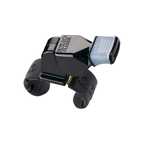 Fox 40 Official Fingergrip Whistle Classic-Silbato Oficial para Dedos, Unisex Adulto, Negro, Normal
