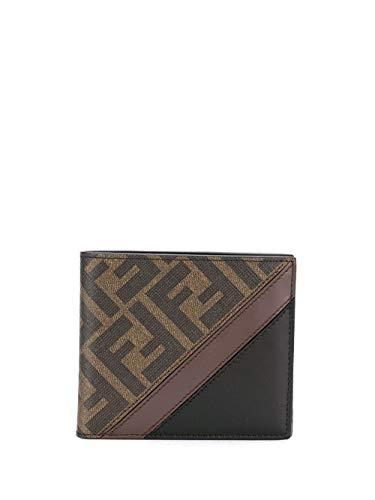 FENDI Luxury Fashion Herren 7M0169A9XSF199B Braun Leder Brieftaschen | Jahreszeit Permanent