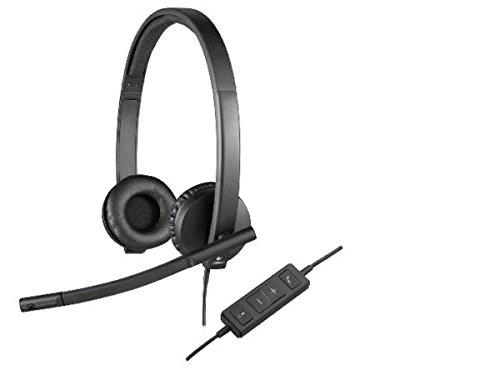 Logitech USB Headset H570e Stereo - Black