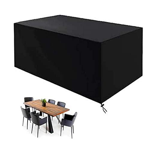 CHLDDHC Copertura impermeabile per mobili da giardino rettangolare da patio, copertura antivento anti-uv per divani e sedie, 242 x 162 x 100 cm