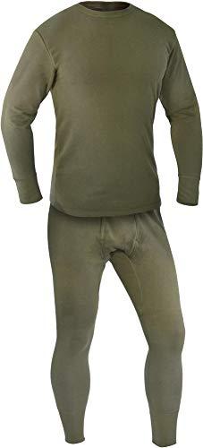 normani Bundeswehr Set (Unterhemd + Unterhose) Plüsch nach TL Farbe Oliv Größe 6