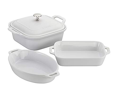 Staub Ceramics 4-pc Baking Dish Set, White