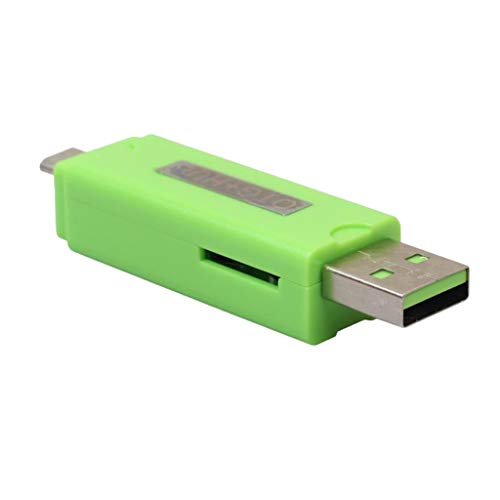 P Prettyia Micro USB OTG HUB Adapter TF Card Reader for Smartphones And Tablets - Green, as described