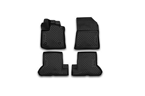 Element EXP.NLC.3D.41.37.210k Passgenaue Premium Antirutsch Gummi Fußmatten-Dacia Dokker-Jahr: 12-20, schwarz