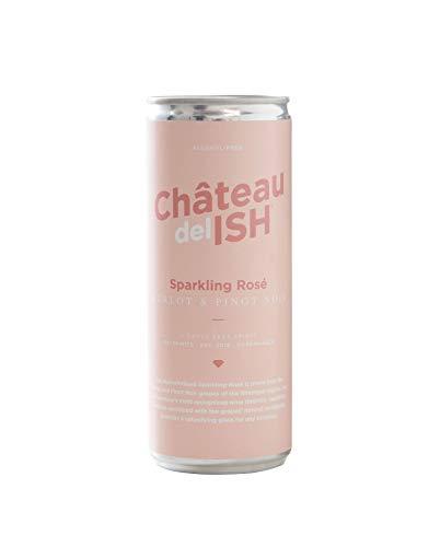 Château del ISH Sparkling Rosé – 24x 250ml - prickelnder Schaumwein mit 0% Alkohol, Premium Sekt alkoholfrei mit Trauben aus Frankreich, Frizzante Perlwein als alkoholfreies Getränk