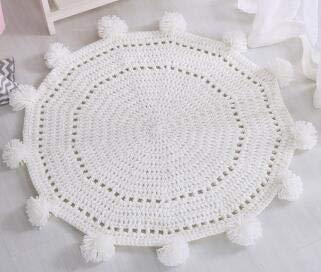 Best Design Solid Handmade Wool Ball Knit Floor Mat Ins Blanket Model Room Soft, Big Wool Blanket - Handmade Fabric Toys, Baby Wool Hat, Ball Winder Wood, Yarn Bowl, Wool Knit Hat, Mens Leather Hats