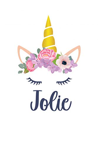 Jolie: Personalized Name Lined Journal Diary Notebook 120 Pages, 6