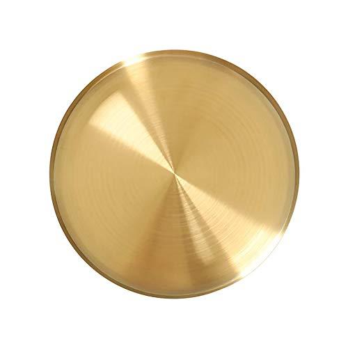 Magiin Servier Tablett Getränke Organizer Tablett Gold Dekorative Servierplatte für Bar Küche Badezimmer Edelstahl 12.5cm