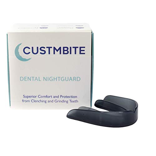 CustMbite Nightguard - Black Smoke Color - Professional Dental Guard, Custom Fit Night Guard for Teeth Grinding, TMJ Relief & Bruxing