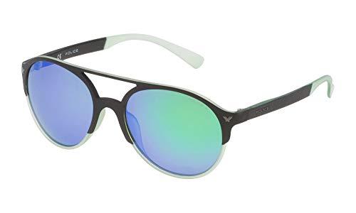 Police SPL163556PCV Gafas de sol, Negro, 55 Unisex