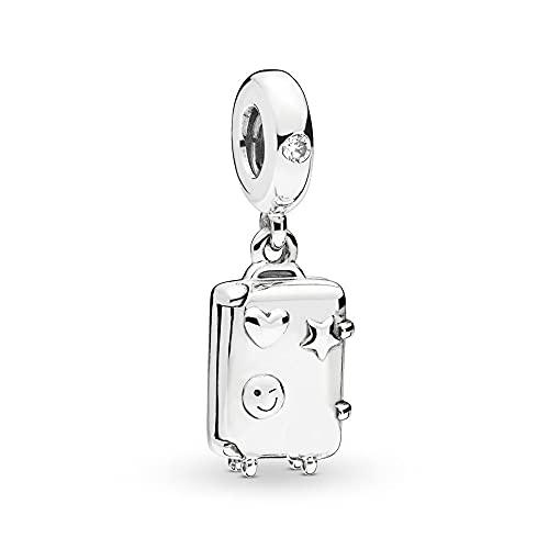 Pandora 925 Charm Silver Bead Maleta Colgante Moda Mujer Brazalete Regalo Diy Joyería