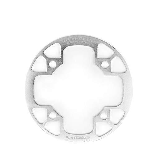 MHCYKJ Protector de disco de bicicleta, BCD: aleación de aluminio de 104 mm, fácil de instalar, cubierta de disco de rueda para 32 ~ 34T 36 ~ 38T 40 ~ 42T, plata, 40T a 42T