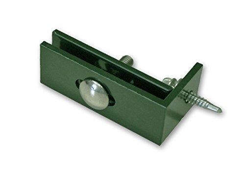 Zaunanschlusswinkel für Doppelstabmattenzäune - grün, RAL 6005 - Paket á 8 STK.