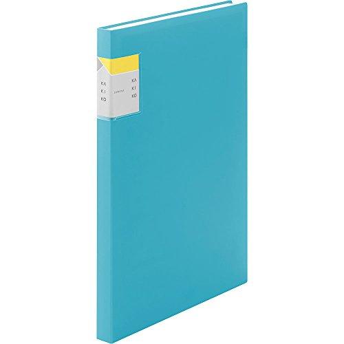 キングジム クリアファイル カキコ A4 縦 40P 水色 8632Wミス