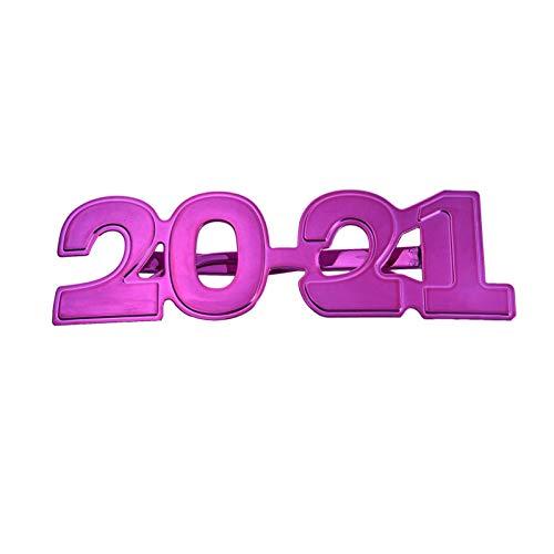libelyef 2021 Lustige Sonnenbrille, Neujahrsbrillenrahmen, Foto-Requisiten, Brillenrahmen für jedes Alter, ideal für 2021 Neujahrsparty