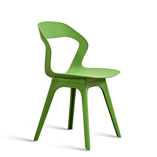 PLL Nordic Leisure Chair Restaurant, moderner minimalistischer Stuhl, grüner Modestuhl, Rückenlehnenhocker