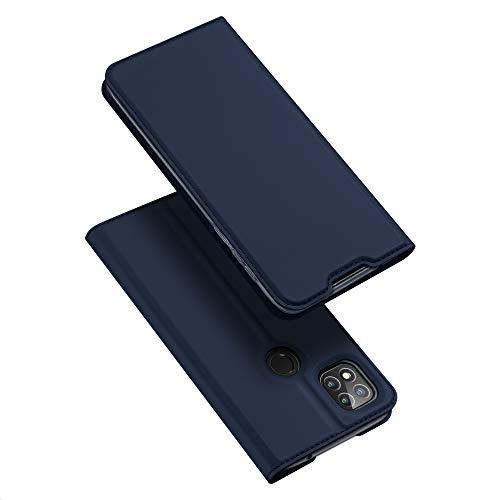 DUX DUCIS Hülle für Xiaomi Redmi 9C, Leder Klappbar Handyhülle Schutzhülle Tasche Hülle mit [Kartenfach] [Standfunktion] [Magnetisch] für Xiaomi Redmi 9C (Blau)