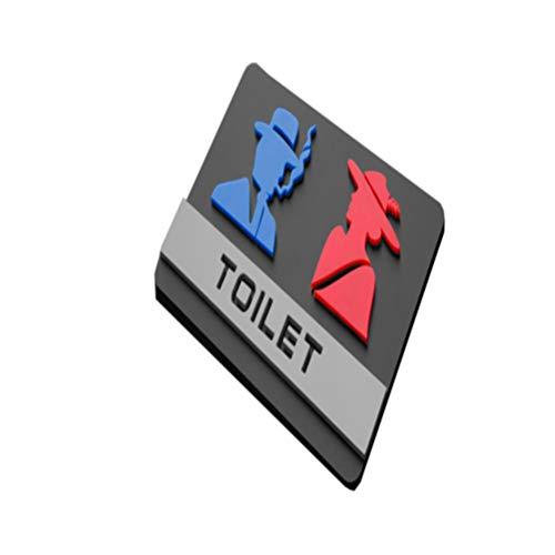 Toyvian Señales de Baño Signos de Baño de Hombre Mujer Pl