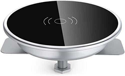 GZFTM Charger Pad voor Smartphone QI Draadloze Oplader Grommet Gat In Bureau voor iPhone x 8 Samsung S8 Note 8 Elektronica Apparaten -oplader voor installatie in bureaus conferentie tafels werkbladen