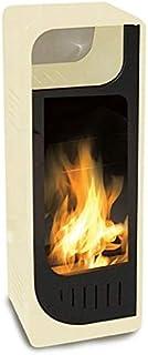 Estufa de bioetanol con llama estática color beige