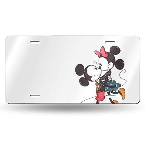 Suzanne Betty Aluminum License Plates - Mickey Minnie License Plate Tag Car Accessories 12 X 6 Inches