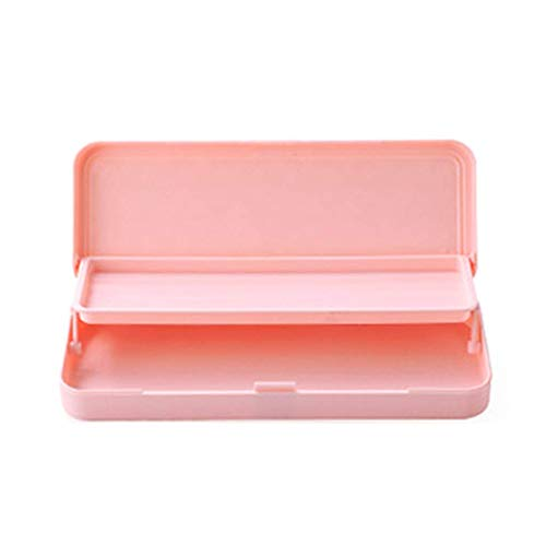 Iwinna Double Layer Pencil Box Large Capacity Pen Box Storage Stationery School Office Supplies Kids Students Gift