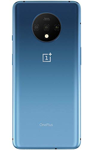 OnePlus 7T HD1900 128GB, 8GB, Dual Sim, 6.55 inch, 48MP Main Lens, Triple Lens Camera, GSM Unlocked International Model, No Warranty (Glacier Blue)