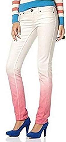 AJC Dip-Dye Jeans Weiß - Lachs Gr. 38