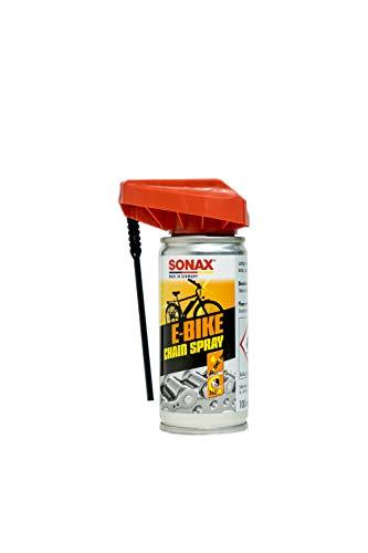 SONAX E-BIKE KettenSpray mit EasySpray (100 ml) - reinigt, schützt & schmiert, verringert Verschleiß & Reibung, Korrosionsschützend, hohe Kriech- & Haftwirkung   Art-Nr. 08721000
