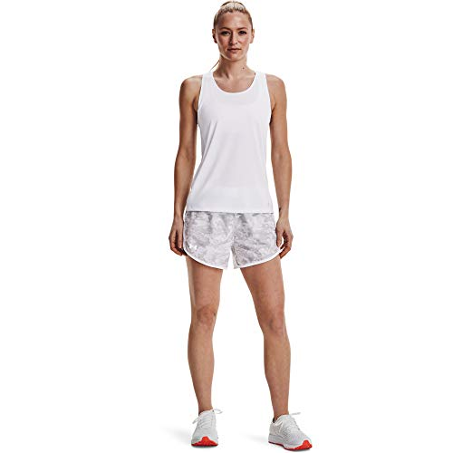Under Armour Tech Twist - Camiseta de Tirantes para Mujer, Mujer, Camiseta, 1275487-442, Breeze White Metallic Silver 442, XX-Large