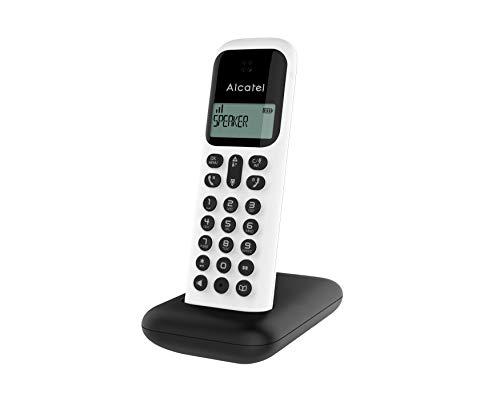 Alcatel D285 solo Noir Et Blanc. Téléphone sans Fil Dect Écoute amplifiée. Ecran Confort. Répertoire de 50 Noms