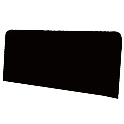 LOVIVER Bett Kopfteil Bezug Bettkopfteil Hussen Kopfteilbezug 200 x 80 cm - Schwarz, 200x80cm