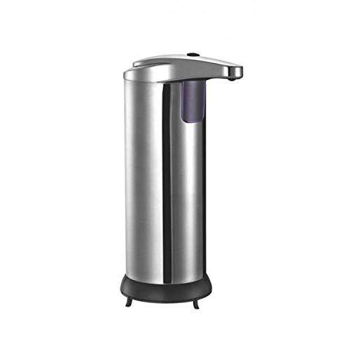 KITCHEN MOVE Distributeur Automatique de Savon Liquide désinfectant avec capteur Intelligent de Mouvement 300ml CLEANY sans Contact pour Cuisine, Salle de Bain, hôtel, Restaurant en Acier