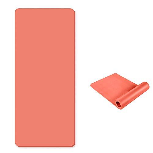 OEM directo directo de fábrica personalizado pelo liso 10 mm engrosado y ensanchado estera de yoga para principiantes nbr